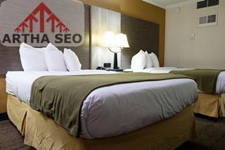 struktur organisasi hotel bintang 4, Standard double beds hotel room